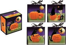 Happy Halloween ~ How To Carve A Pumpkin Ceramic Mini Plates Set of 4