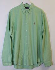 Polo Ralph Lauren Oxford Shirt, Size 17 / XL, Long Sleeve, Pistachio, VGC
