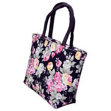 Rose Flower Women Canvas Big Capacity Shopping Handbag Tote Shoulder Bag Creativ