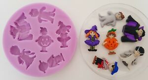HALLOWEEN COSTUMES SILICONE MOULD FOR CAKE TOPPERS CHOCOLATE CLAY ETC