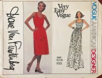 1970's VTG VOGUE Misses' Dress Diane Von Furstenberg Pattern 1662 Size 12 UNCUT