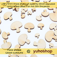 Wooden MDF Mushroon//toadstool Craft Shapes blanks   x 3mm thick MDF
