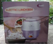 New Itaki Blue Portable Electric Lunch Box Rice Steamer Cooker Sealed Box