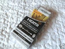 1,5m HDMI Flach Kabel Gelb 1.4a Ethernet Full HD 3D TV PS3 PS4 Xbox ONE, NEU