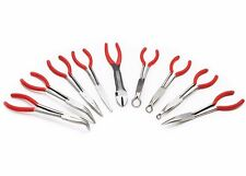 "9pc Long Reach Plier 11"" inch Mechanics Electricians Craft & Hobby Tool Set"