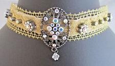 Stunning Pre-loved Victorian Style Velvet & Crystal Choke ~ Bridal Jewellery