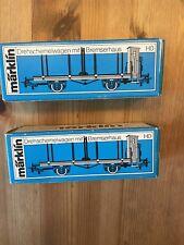 Märklin H0  4697 Drehschemelwagen, 2 Stück