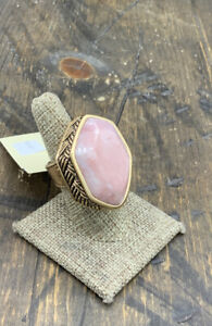 Barse Montague Statement Ring- Pink Opal  & Bronze-7-NWT