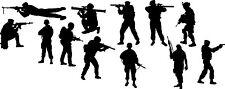 12 soldados Pegatinas de Pared Arte Calcomanía Niños Dormitorio Vinilo Calcomanía ventana chicos portátil