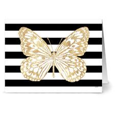 24 Note Cards - Bold Butterfly Paper Kite - Kraft Envs