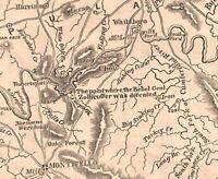 Topographical Map Civil War Kentucky Pulanski Co. 1862 historical printing