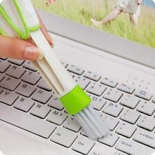 1Pcs Home Office Double Head Brush Cleaner Louver Air-condition Panel Cleaning Z