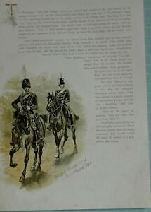 1890 PRINT OFFICER & TRUMPETER OF 13th HUSSARS