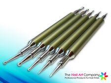 Nail Art Puntea / de marmoleo Herramientas-Pro Bronce Mango De Aluminio Set (5 Herramientas)