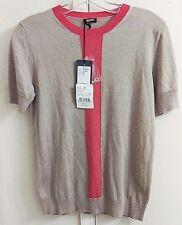 NWT New Jil Sander Beige Silk Cashmere Pullover Crewneck Shirt Top Size S EUR S