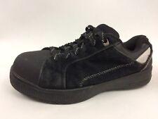 BRAHMA ASTM F 2413-11 Womens 6 M Black Suede Steel Toe Safety Sneaker Work Shoes