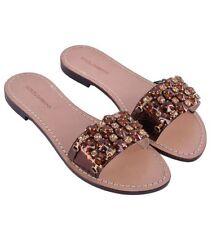 Flat (0 to 1/2 in.) Animal Print Slip On Sandals & Flip Flops for Women