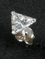 Ohrstecker DREIECK Zirkonia Kristall Silber 925 extra flach Silberstecker