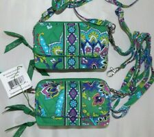VERA BRADLEY ALL IN ONE Crossbody Wristlet Shoulder Strap - Emerald Paisley NEW