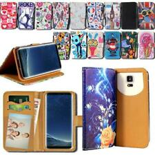 For Samsung Galaxy Note Phones - Leather Smart Stand Wallet Cover Case