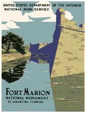 "20x30""Decoration CANVAS.Interior design art.Fort Marion St.Agustine castle.6451"