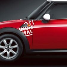 BMW Mini Cooper R55 R56 R57 A Panel Not Normal Decal Sticker Graphics
