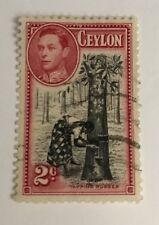 Ceylon Sg 386d Perf 12 F/U Cat £5,50