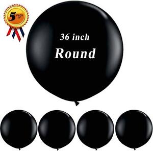 36 inch Giant Black Balloons Round Latex Balloon for Wedding Anniversary Baby Sh