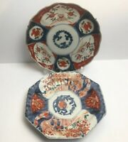 Antique Japanese Imari Pates Hand Made And Painted Decorated With Flowers
