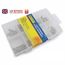 NEW 100pc Chipboard  Screws Assorted Set Sizes