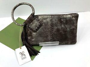 HOBO International SABLE Wristlet Heavy Metal Brown Tassel Wallet Leather NWT