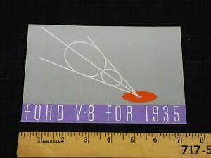 1935 FORD - V8 - Original Color Catalog Dealer Car Brochure