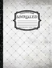 Unruled Composition Book: Notebook College Ruled: Corner: (Notebo by Log Book Co