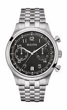 Bulova Men's Classic 96B234 Quartz Chronograph Black Dial Bracelet 43mm Watch