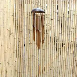Garden Wind Chime Coconut Shell (80cm) Bamboo Wood Decoration AsienLifeStyle