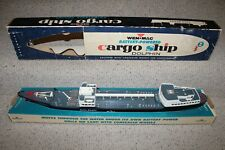 Vintage Original Battery Powered Cargo Ship The Dolphin Boxed