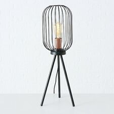 Modern Retro Black Caged Metal Shade Decorative Tripod Floor Lamp Studio Light