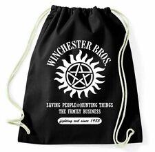 Winchester Bros Turnbeutel Brothers Supernatural Hunting Sportbeutel Logo