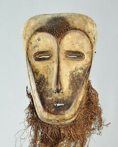 Superbe grand masque idimu LEGA Mask Congo African Tribal Art Africain 1262