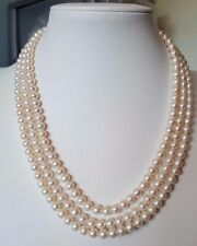Freshwater pearl 3 rows necklace