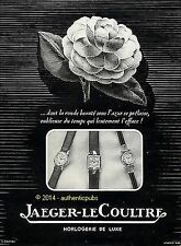 PUBLICITE JAEGER LECOULTRE MONTRE ROSE SIGNE CASINI DE 1950 FRENCH AD WATCH PUB
