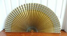Vtg Reversible Fireplace Background Fan Air Line Mfg. Indianapolis Black Gold
