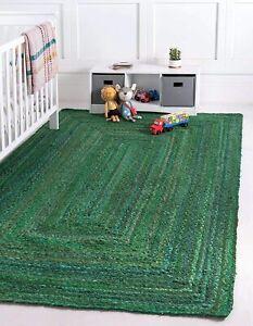 Rug 100% Cotton Braided style Reversible Handmade Runner Rug Modern Living Rug