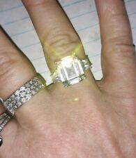 *Just Arrived Brand New* 3 Stone 6.5 Ctw Diamond Ring W/Second Diamond Band