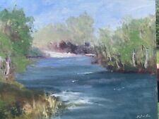 DAVID WESLEY POE impressionist original landscape OIL PAINTING signed 12x16