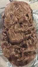 "U169 6"" Lt Brown Syn Mohair Doll Wig, Anika for Antique or Vtg Dolls"