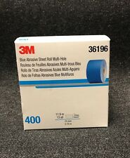 3M-36196 Hookit Blue Abrasive Sheet Roll Multi-hole,(2.75 inch x 13y) (400 Grit)