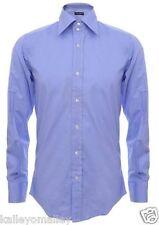 Dolce & Gabbana Blue Mens Long Sleeve Dress Shirt Size 16/41