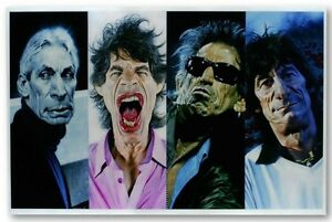 Sebastian Kruger 40 x 40 - Rolling Stones Giclee on Paper