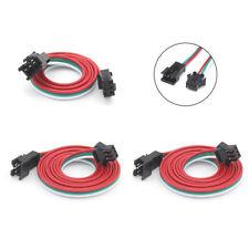 1M/2M 3Pin JST SM Stecker Verbindungsstecker Für WS2812B WS2811 LED Streifen Neu